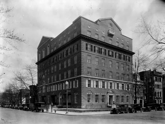 Corner of 17th & K, about 1925 (photo from the Library of Congress & Vanishing Washington). I used to work at 1750 K St. NW, which was someone's house once upon a time.