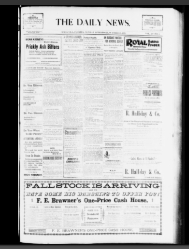 The Daily News. Pensacola's -other- daily newspaper not published by Frank Mayes. Source: University of Florida Smathers Library