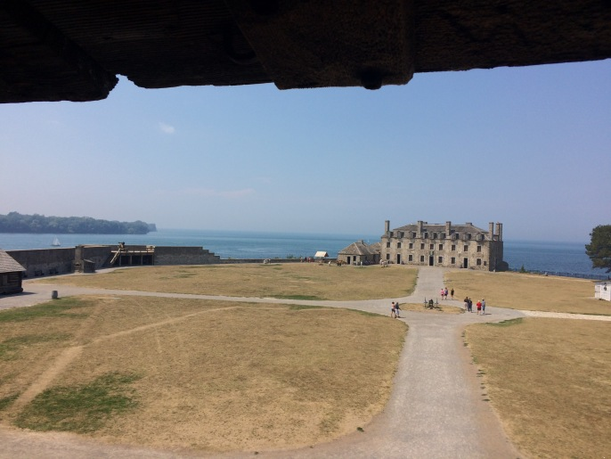 A view of the castle at Ft. Niagara from the watch tower. All of these buildings are original to the fort, and are well maintained.