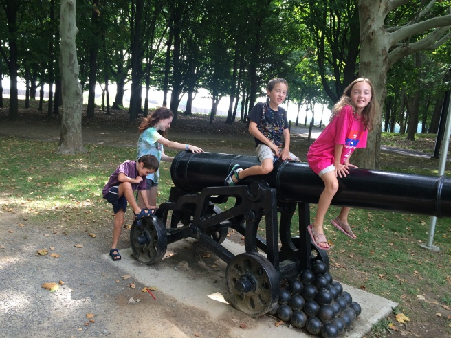 The kids playing on the cannon outside of Ft. George, Ontario.