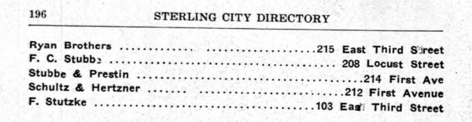 The rest of the listing for Sterling's saloons in 1906. Source: Ancestry.com