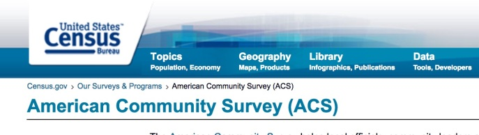 The American Community Survey. Source: ACS