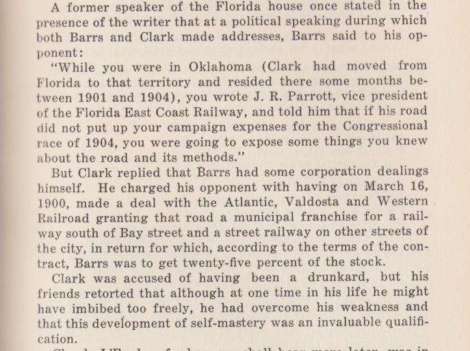 This is on page 99. Source: Cash, W. Thomas. (1936). History of the Democratic party in Florida: including biographical sketches of prominent Florida democrats. Tallahassee: Florida Democratic Historical Foundation.